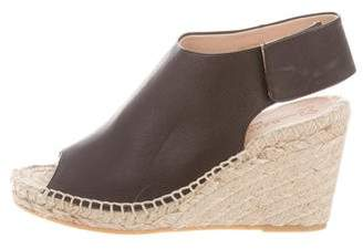 Max Mara Weekend Leather Espadrille Wedges