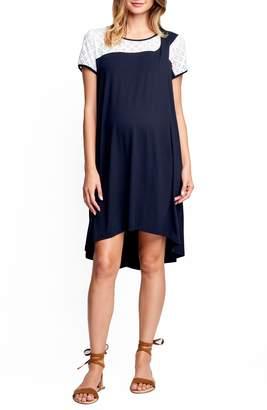 Maternal America Drape High/Low Maternity Dress