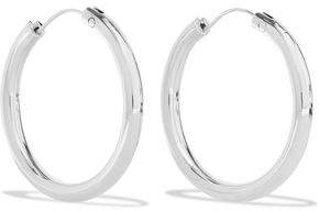 Elizabeth and James Silver-Tone Hoop Earrings