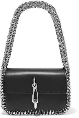 Alexander Wang Hook Small Chain-trimmed Leather Shoulder Bag - Black