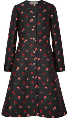 Lela Rose Wool-blend Jacquard Coat - Black