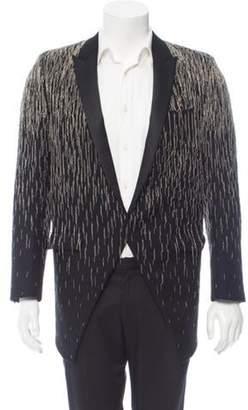Saint Laurent Chain-Link Embellished Tuxedo Jacket black Chain-Link Embellished Tuxedo Jacket