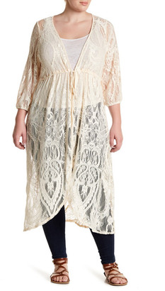 H.I.P. Sheer Lace Duster (Plus Size) $46 thestylecure.com