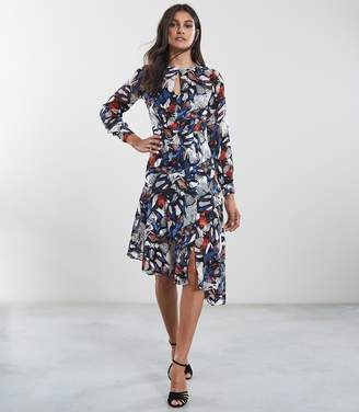 Reiss Aria Burnout Printed Midi Dress