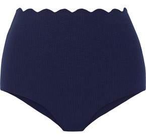 Marysia Swim Palm Springs Scalloped High-Rise Bikini Briefs