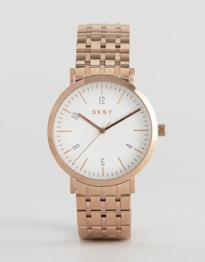 DKNYDKNY Minetta Rose Gold Bracelet Watch