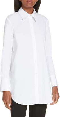 Theory Tuxedo Button Front Shirt