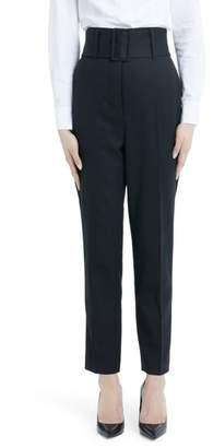 Sara Battaglia Wide Leg Stretch Wool Crepe Pants