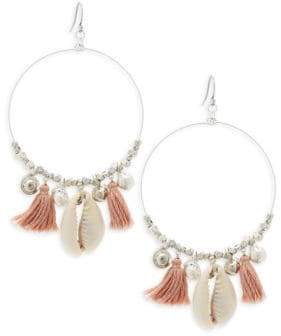 Chan Luu Sterling Silver Tassel Hoop Earrings