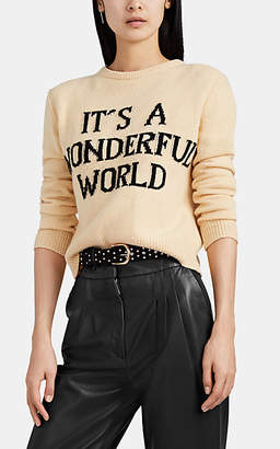 "Alberta Ferretti Women's ""Wonderful World"" Eco-Cashmere Sweater - Yellow"