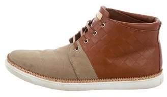 Louis Vuitton Damier Infini Desert Boots