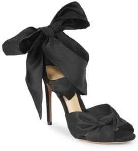Alexandre Birman Katherine Bow Ankle-Strap Sandals