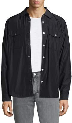 7 For All Mankind Men's Snap Button Shirt