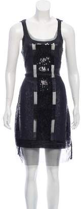 Yoana Baraschi Sleeveless Sequined Dress