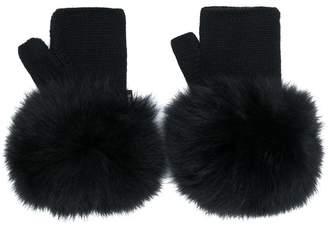 Moncler fur gloves