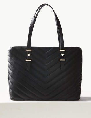 M&S CollectionMarks and Spencer Faux Leather Tote Bag