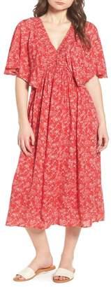 Hinge Kimono Sleeve Midi Dress