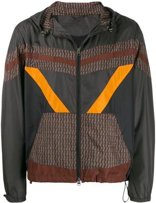 Etro colour blocked wind breaker jacket