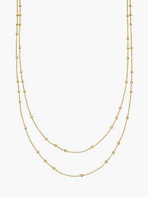Missoma Double Chain Necklace, Gold