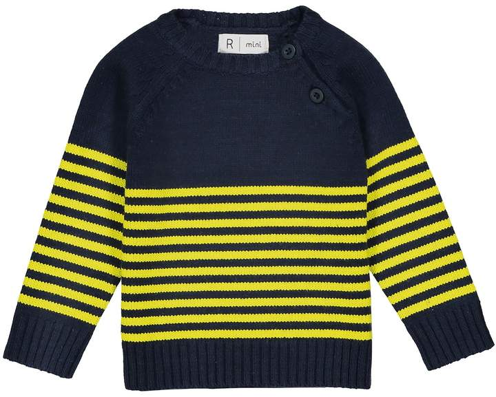 La Redoute Collections Striped Crew Neck Jumper, 1 Month-3 Years
