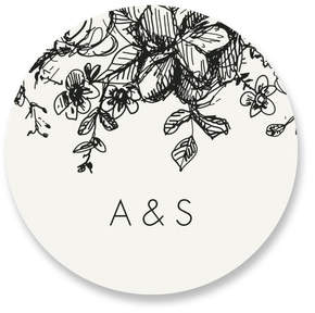 Elegance Illustrated Custom Stickers