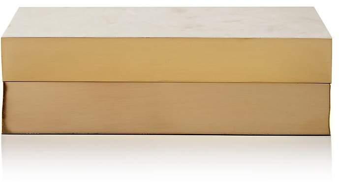 Ginger Brown Snow Crystal & Brass Box