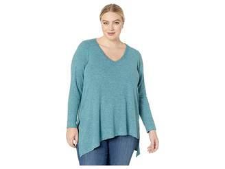 Karen Kane Plus Plus Size Asymmetric V-Neck Top