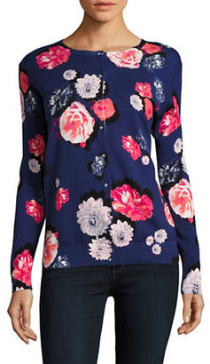 Lord & Taylor Floral Long Sleeved Cardigan $54 thestylecure.com