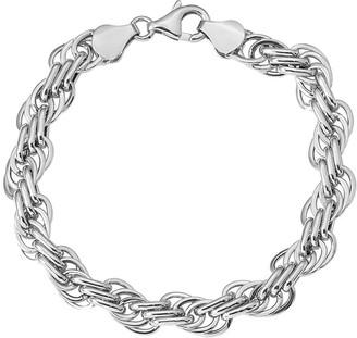 Italian Gold Loose Rope Link Bracelet 14K, 7.5g