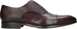 Magnanni Contrast texture leather oxford shoes