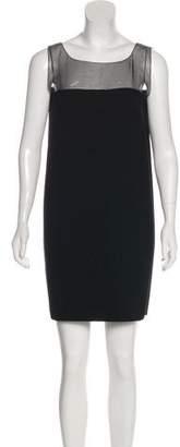 Andrew Gn Virgin Wool & Silk-Blend Mini Dress