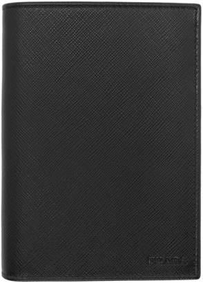 Prada Black Leather Passport Holder