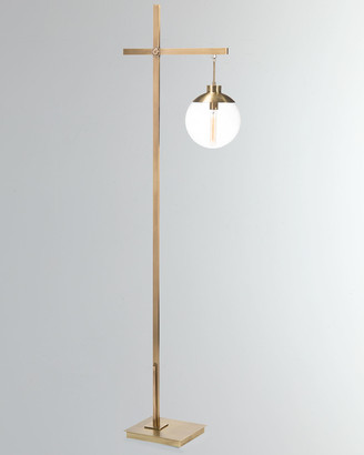 John-Richard Collection John Richard Collection Brass Globe Floor Lamp