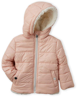 MICHAEL Michael Kors Infant Girls) Blush Faux Sherpa-Lined Midweight Jacket