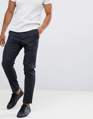 Selected PANTS With Elasticated Waistband In Tapered Fit