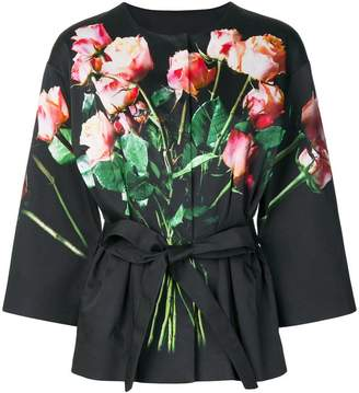 Moschino rose print kimono jacket
