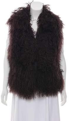 Fur Mongolian Lamb Fur Vest Black Fur Mongolian Lamb Fur Vest