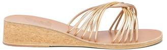 Ancient Greek Sandals Xanthi Leather Wedges - Womens - Gold