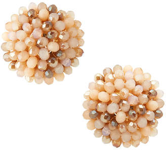 Emily and Ashley Greenbeads By Blush Beaded Stud Earrings
