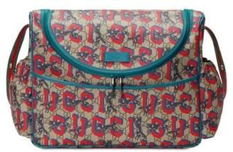 Gucci Wolf GG Supreme Diaper Bag