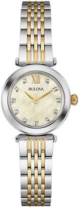 Bulova Women's Quartz Two-Tone Diamond Bracelet Watch, 25mm - 0.055 ctw