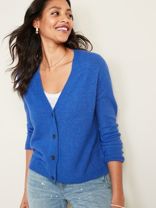 Old Navy Slouchy Soft-Brushed Button-Front Cardi for Women