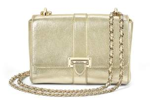 Aspinal of London Small Lottie Bag In Pale Gold Pebble