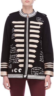 Scotch & Soda Embroidered Wool Captain's Jacket