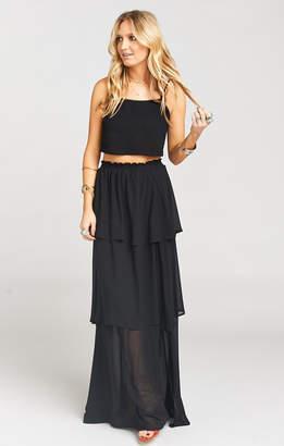 Show Me Your Mumu Karla Convertible Skirt Dress ~ Black Chiffon