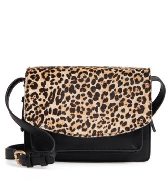 Sole Society 'Michelle' Faux Leather Crossbody Bag - Brown $49.95 thestylecure.com