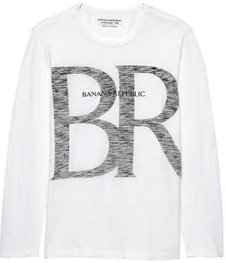 Banana Republic Soft Wash Logo Crew-Neck T-Shirt