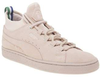 Puma New Mens Big Sean Pink Suede Mid Trainers Chukka Boots Lace Up