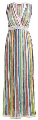 Missoni Sequinned Striped Lame Gown - Womens - Multi