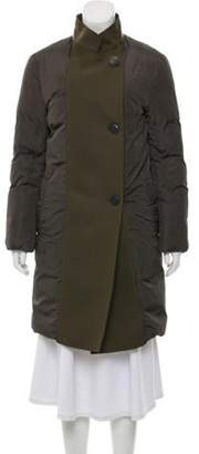 Mantu Knee-Length Puffer Coat Olive Knee-Length Puffer Coat